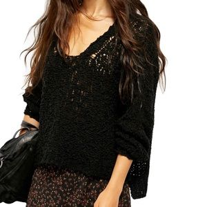 Free People Sunday Shore Cotton Blend Sweater NWT